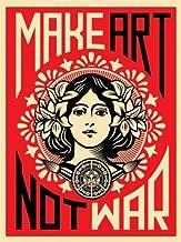 Imaginus Posters Make Art Not War Anti-War Peace Poster Print 18 x 24 inches