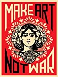 Reproduction d'art - « Make Art not War! » de Shepard Fairey (46...