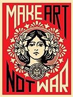 Make Art Not War Anti-War Peace Poster Print 18 x 24 inches 【Creative Arts】 [並行輸入品]