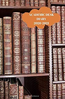 ACADEMIC DESK DIARY 2020-2021: A5 Diary Starts 1 August 2020 Until 31 July 2021. equestrian. Paperback With Soft Water Rep...