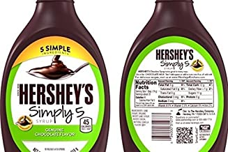 HERSHEY'S SIMPLY 5 GENUINE CHOCOLATE FLAVOR SYRUP ( 2 PACK)