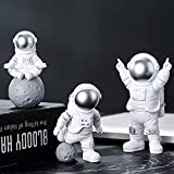 QWRT 3 Unids / Set Figuras Pop Astronauta Modelo Figura Lindo Astronauta Mini DIY Nendoroid Figuras ...