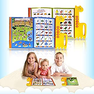 VicJoye English Arabic Muslim Learning hine Voice Learning Book, Early Education, Kids hine Arabic English Early Education...