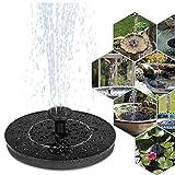 Nicetruc Solar, Bomba de Fuente 1W Círculo jardín de energía Solar de la Bomba de Agua de la Bomba de la Fuente por Birdbaths Ponds