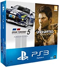 PlayStation 3 - Console PS3 500 GB [Chassis M] con Gran Turismo 5 - Academy Edition, Uncharted 3: L'Inganno Di Drake - GOT...