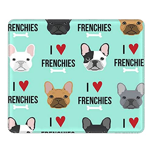 antcreptson Frenchie Dog Mouse Pad Mousepad Non Slip Rubber Gaming Mouse Pad Rectangle Mouse Pads for Computers Laptop