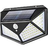 Luces Solares,114 LED Lámpara Solar Exterior Solar Luz LED,3 Modos 270 °...