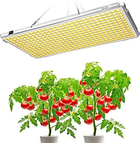 Bozily LED Pflanzenlampe 300 W Vollspektrum, automatische Ein-/Ausschalt-Timer, 12/15/18/24H, faltbar, sonnenähnliches Pflanzenlicht, Wachstumslicht für Zimmerpflanzen