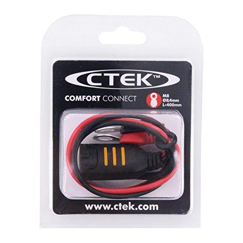 CTEK Comfort Connect Direct Connect Adapter (M8 Muttern), Ideal Für Schwer Erreichbare Batterien, 40cm Kabellänge