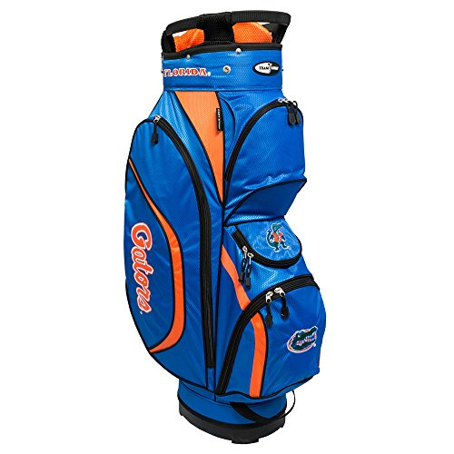 Check Out This Team Golf NCAA Clubhouse Golf Cart Bag, Lightweight, 8-way Top with Integrated Handle, 6 Zippered Pockets, Padded Strap, Towel Ring, Umbrella Holder & Removable Rain Hood