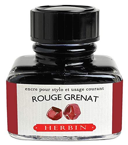 J.Herbin 13029T - Flacone di inchiostro da 30 ml per portapenne, 1 pezzo, colore: Rosso