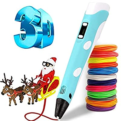 3D Printing Pen,Yummici 3D Pen with 12 Colors with USB Charging PLA Filament Refills,Compatible PLA & ABS,Creative Toy,Great Arts Crafts Gift for Kids & Adults