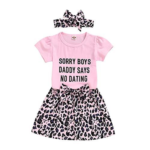 MRULIC Baby Mädchen Outfits Kleidung Bowknot Weste Tops + Plaid Shorts Hosen Sets Anzug 1-6 Jahre(X2-Rosa,110)