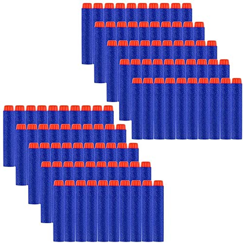 Locisne 100pcs 7.2cm Recarga de Dardos Soft EVA Foam Bullet Munición Pack para Nerf N-Strike Elite Series- Azul(EVA bala 100)