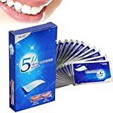 Blanqueador Dental Profesional, Tiras Blanqueadoras de Dientes 5D, Kit de Blanqueamiento Dental Gel Blanqueador de Dientes, Seguro y Eficaz, 14 Bolsas 28 Piezas