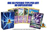 10 Random Psychic Pokemon Card Lot - Featuring 1 GX Psychic Type - A Mix of Foils - Rares - Common/Uncommons! No Duplication! Includes Golden Groundhog Storage Box!