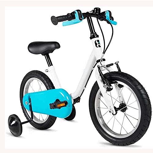 HUAQINEI Las Bicicletas Triciclo para niños Son adecuadas para niños y niñas de 4 a 6 años para Salir, Equipadas con Ruedas y Freno de Mano de 14 Pulgadas.