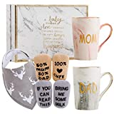 New Parents Pregnancy Gift Ideas Includes Premium Gift Basket for Mom and Dad Mugs 14 oz - Expecting Mother to be - Baby Shower Gender Reveal