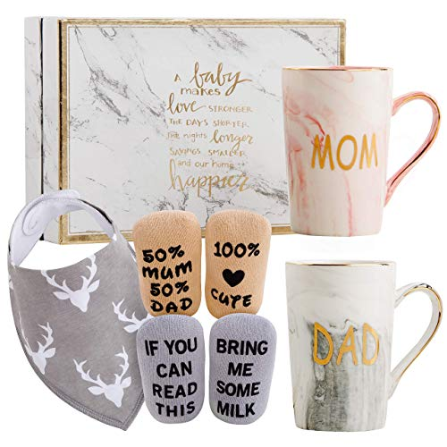 New Parents Pregnancy Gift Ideas Includes Premium Gift Basket for Mom...