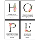 Hope Wall Decor - Religious Wall Decor - Catholic Christian Gifts for Women - Psalms, Proverbs, Scripture, Bible Verse Wall Art - Positive Inspirational Quotes - Encouragement Gifts for Women