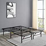 AmazonBasics Foldable Metal Platform Bed Frame for Under-Bed Storage - Tools-free Assembly, No