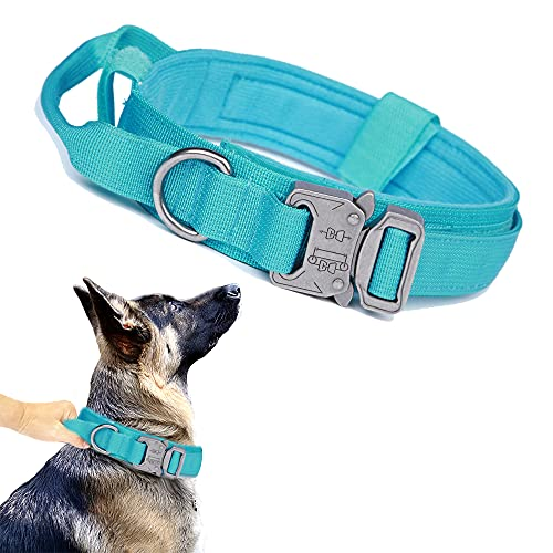 Tactical Dog Collar Military Dog Collar Adjustable Nylon Dog Collar Heavy Duty Metal Buckle with...