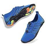 Boys & Girls Water Shoes Lightweight Comfort Sole Easy Walking Athletic Slip on Aqua Sock(Toddler/Little Kid/Big Kid) U1ELJSX004-Deep blue-34