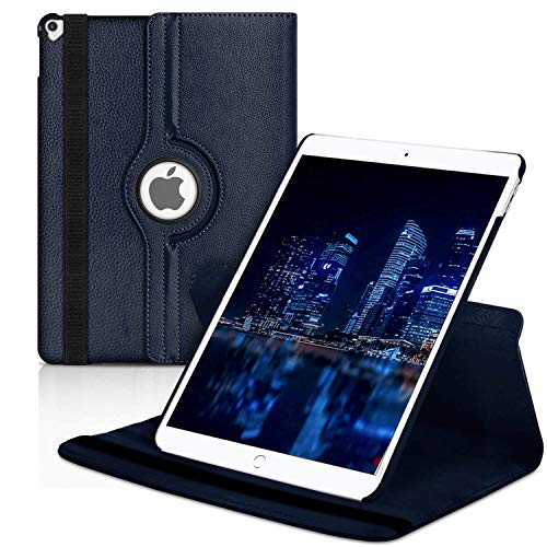 Cover Tablet voor Apple iPad 12.9 (2017) | Marineblauw hoesje van synthetisch le