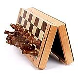 AJH Juego de Tablero de ajedrez de Madera magnética, ajedrez de Viaje de Lujo Profesional, Juegos tácticos clásicos, Juguetes educativos, ajedrez para Principiantes