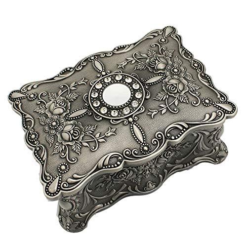 ReedG Caja de Joyería Joyería joyero Caja de Almacenamiento Regalo de la decoración de Trompeta Retro Metal Antiguo Creativo Creativo del Anillo Caja de Almacenamiento para Mujeres