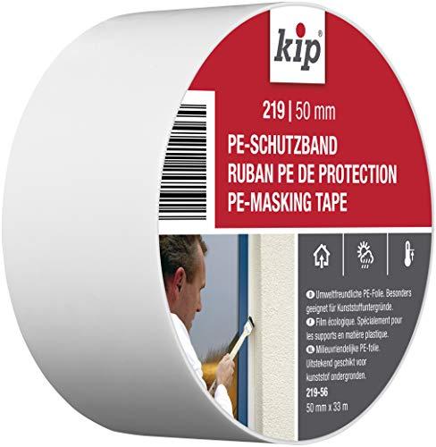 Kip Tape 219-56 Schutzband – Professionelles Abklebeband aus PE für Kunststoffuntergründe – Malerband für saubere Kanten beim Streichen & Lackieren – 50mm x 33m
