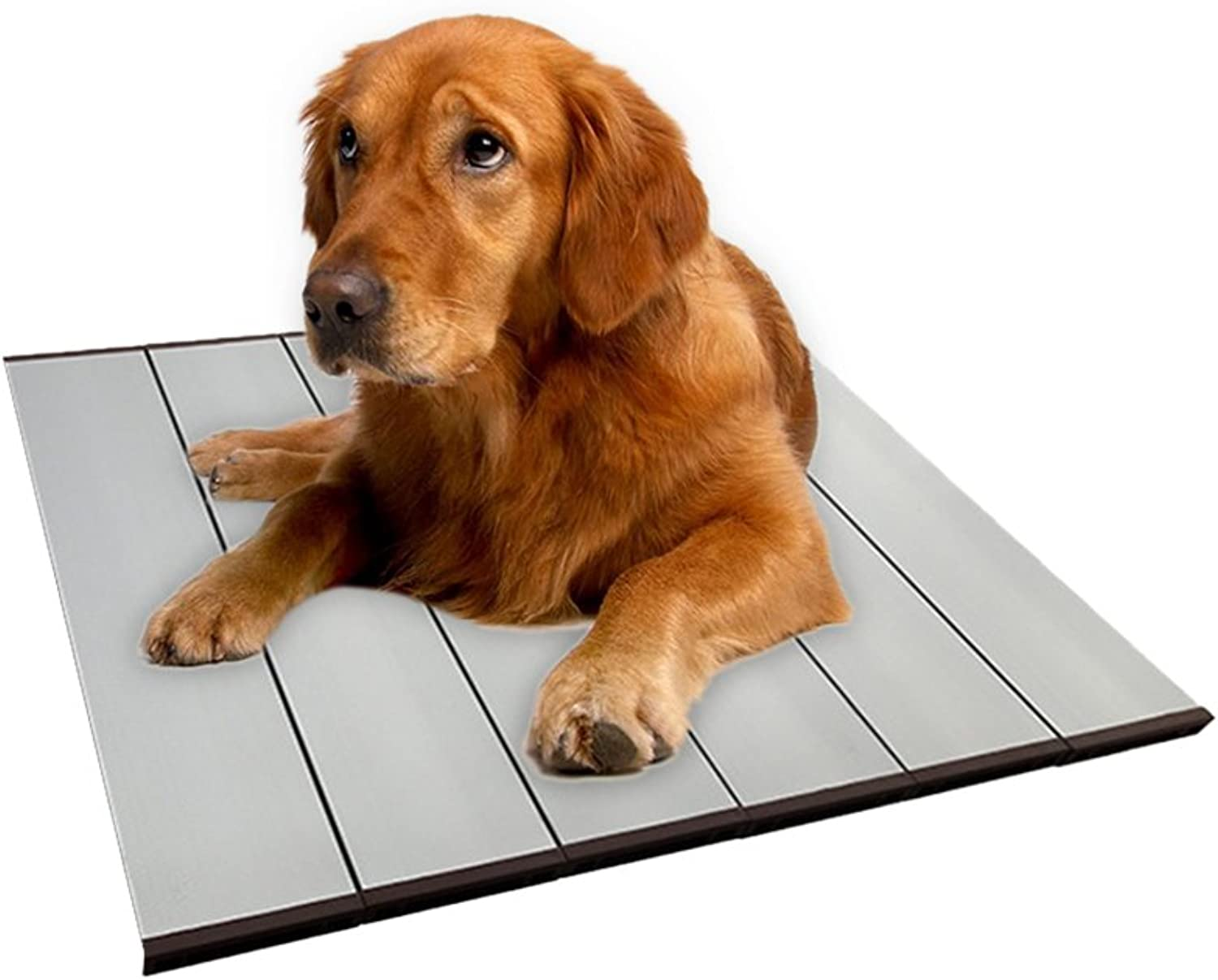 Bloomma Summer Pet Mat, Foldable Pet Heat Dissipation Aluminum Alloy Plate Cooling Mat Ice Pad Cool Bed with Ice Pack