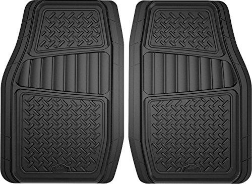 Armor All 2-Piece Black All Season Truck/SUV Rubber Floor Mat, Model:78830