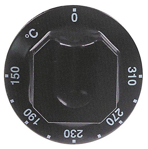 Electrolux knevel voor bakplaat 168895, 168884, 168887, 168890, 168893 voor thermostaat ø 70 mm symbool 150-310 °C zwart