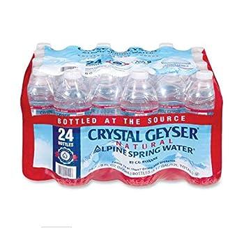 Crystal Geyser 24514CT Alpine Spring Water 16.9 oz Bottle 24/Case