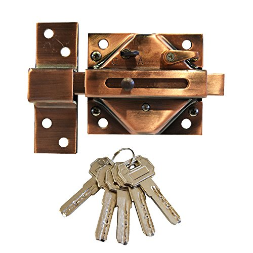 WURKO 162503 900-Chiavistello con 5 chiavi punti cobreada