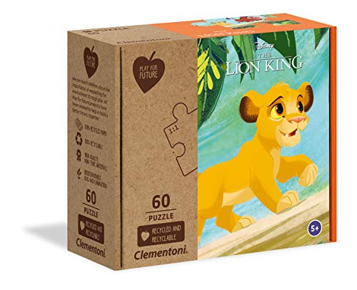 Clementoni Play For Future-Disney The Lion King-60 pezzi-materiali 100% riciclati-Made in Italy, puzzle bambini 5 anni+, 27002