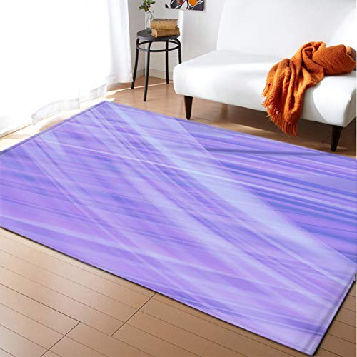 DRTWE Gruesa Alfombra de Terciopelo Suave Antideslizante Alfombra Inferior niño's Room Play Mat Nursery Floor Pad Purple Gradient Pattern Runner Carpet for Living Room Bedroom,120 * 160cm