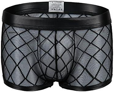 Kwelt Hombre Underpants Mesh Pantalones Cortos Transparentes de Boxer Stringhe Mesh Underwear Trasparente Bikini Briefs Pantalone Pantaloni