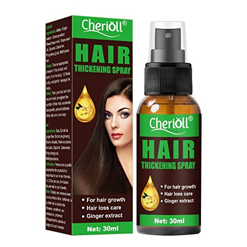 Hair Thickening Spray, Hair Growth Spray, Anti Hair Loss, Hair Thickening Products for Women and Men, Hair Volumizer + Texturizing Spray for Hair Volume and Root Lift (30ml)