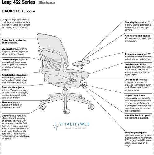 Steelcase Leap Desk Chair Features
