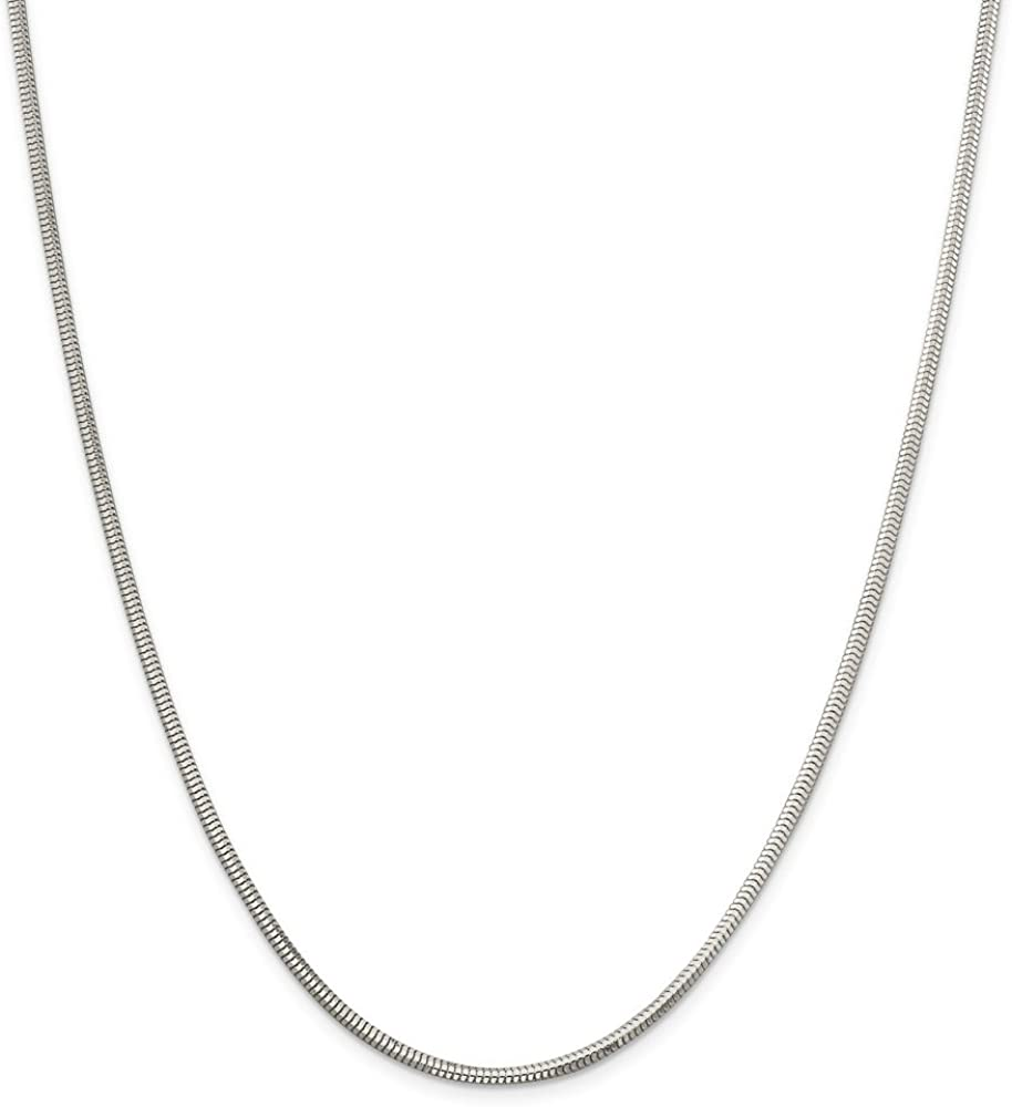 925 Sterling Silver 2.5mm Diamond-cut Necklace wit Max 59% OFF 2021 - Snake Chain