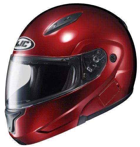 HJC CL-MAXBT II Bluetooth Modular Motorcycle Helmet (Wine, Small)