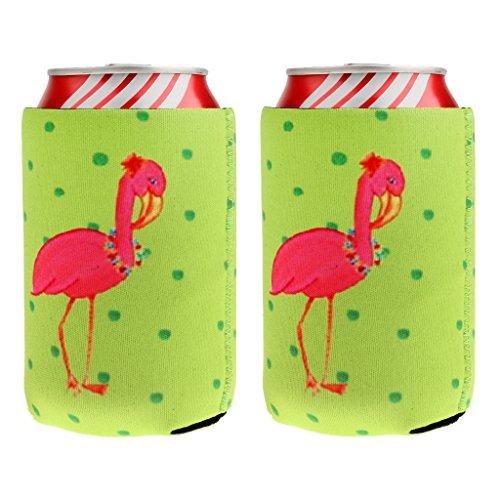 dailymall 2 Paar Flamingo Stubby Bier Limonade Getränk Halter Chill Hülse