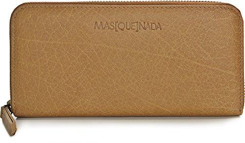 MASQUENADA, Leder Damen Geldbörsen, Börsen, Portemonnaies, Brieftaschen, 19,5 x 9,5 x 2 cm (B x H x T), Farbe:Camel