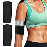 MoKo Arm Trimmer Bands, 1 Pair Upper Slimming Arm Compression Sleeves Shaper Wraps for Flabby Arms, Elastic Sport Workout Exercise Armbands for Women Men Girls Weight Loss, Silver Lining-4XL/5XL Size