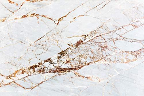 Cuadros Lifestyle Keuken SplashWhite Marmer | Keuken achterwand | Aluminium DiBond | Tegelbescherming voor het fornuis | Keuken | Tegelspiegel | achterwand 60 x 40 x 0.3 cm