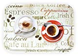 Lashuma Bandeja de café grande, de melamina, con estampado, rectangular, 38 x...