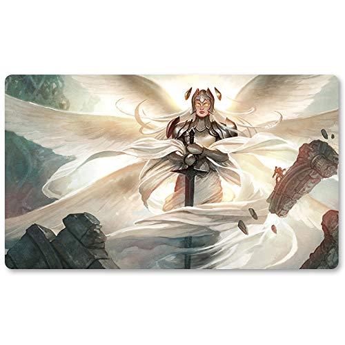 Alfombrilla para Juegos de Mesa de Juego de Mesa de 60 x 35 cm para Yugioh Pokemon Magic The Gathering, de la Marca Iona, Shield of Emeria