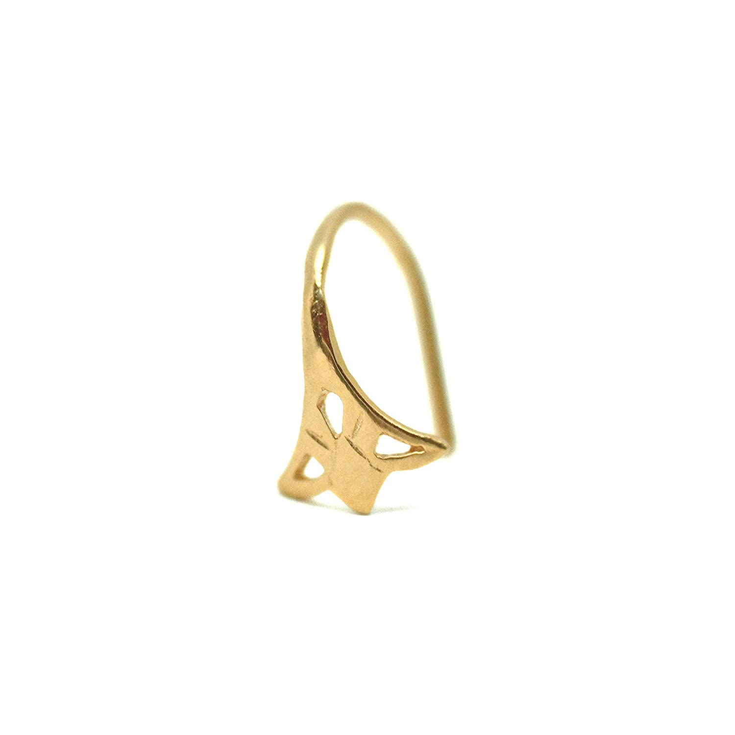 Gold Nose Ring Unique Plated Piercing Indian Quantity limited Tribal Ranking TOP4 Hoop